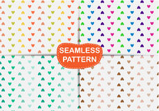 Seamless pattern heart abstract, Royalty Free Stock Photo