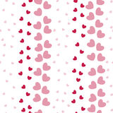 Seamless Pattern with Heart Bands Stock Image