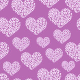 Seamless pattern with heart of flowers Royalty Free Stock Photo