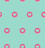 Seamless pattern with heart on light blue Stock Photo