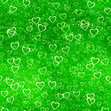 A seamless pattern with heart representing the nat Royalty Free Stock Photos