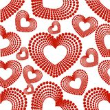 Seamless pattern of heart shape. Royalty Free Stock Image