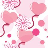 Seamless pattern with heart-shaped balloons Royalty Free Stock Photography
