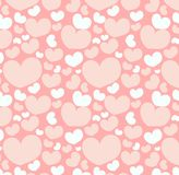 Seamless pattern with heart shapes Royalty Free Stock Photography