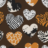 Seamless pattern with heart shapes Royalty Free Stock Photo