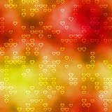 Seamless pattern with heart silhouettes on colored background Royalty Free Stock Photography