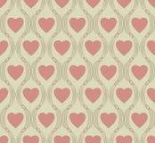 Seamless pattern of heart symbol Royalty Free Stock Photo