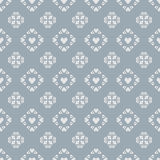 Seamless  pattern heart tile on blue  background Stock Photo