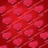Seamless pattern heart for Valentine's day Stock Photography