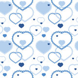 Seamless pattern of heart Royalty Free Stock Images