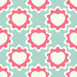 Seamless pattern with heart Stock Image