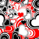 Seamless pattern with hearts. Abstract romantic seamless preparation for the designer Stock Images