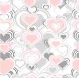 Seamless pattern with hearts. Abstract romantic seamless preparation for the designer Stock Photography