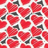Seamless pattern - hearts Royalty Free Stock Image