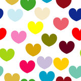 Seamless pattern with hearts. Isolated Royalty Free Stock Photography