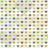 Seamless pattern with hearts. Romantic two-layer color geometric pattern Vector Illustration