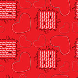 Seamless pattern with hearts Royalty Free Stock Photos