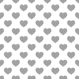 Seamless pattern of hearts. Abstract background. Royalty Free Stock Images