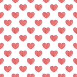 Seamless pattern of hearts. Abstract background. Royalty Free Stock Photography