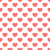 Seamless pattern of hearts. Abstract background. Stock Images