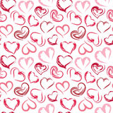 Seamless pattern hearts. Abstract seamless pattern hearts. Vector illustration Stock Images