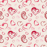 Seamless pattern hearts. Abstract seamless pattern hearts. Vector illustration Royalty Free Stock Photo