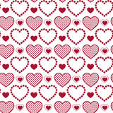 Seamless pattern hearts. Abstract seamless pattern hearts. Vector illustration Royalty Free Stock Images