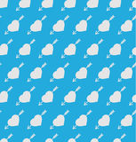Seamless pattern. Hearts and arrows on blue background. Vector Seamless pattern. Hearts and arrows on blue background Stock Images