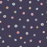 Seamless pattern with   hearts. Seamless pattern with beautiful colorful hearts. Vector Royalty Free Stock Photo