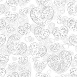 Seamless pattern of hearts Royalty Free Stock Image