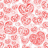 Seamless pattern of hearts Royalty Free Stock Photos
