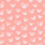 Seamless pattern with hearts-butterflies Royalty Free Stock Photos