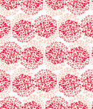 Seamless pattern hearts in circle. Royalty Free Stock Photos