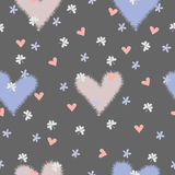 The seamless pattern hearts. The seamless pattern with hearts, clover leaves Stock Photography