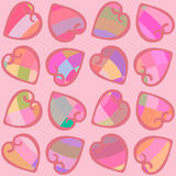 Seamless pattern with hearts colorful Royalty Free Stock Images