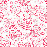 Seamless pattern of hearts Royalty Free Stock Photo