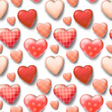 Seamless pattern with hearts Stock Photos