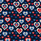 Seamless pattern with hearts on a dark background Royalty Free Stock Image