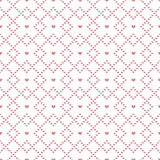Seamless pattern of hearts in diamonds. Royalty Free Stock Image