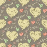 Seamless pattern with hearts Royalty Free Stock Photo