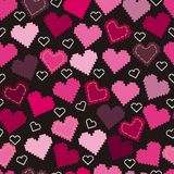 Seamless pattern with hearts and embroidery. Seamless pattern with hearts and embroidery for textiles, interior design, for book design, website background Stock Image