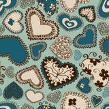 Seamless pattern of hearts Stock Image
