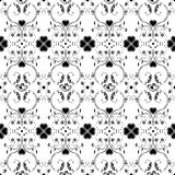 Seamless pattern of hearts and floral Royalty Free Stock Photos