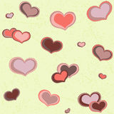 Seamless pattern hearts Stock Photo