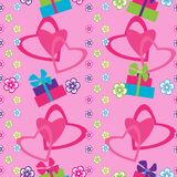 Seamless pattern with hearts and gifts Stock Image