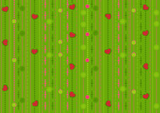 Seamless pattern with the hearts Stock Images
