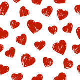 Seamless pattern with hearts. Seamless pattern with hand drawn hearts Royalty Free Stock Photo