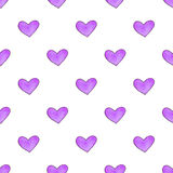 Seamless pattern with hearts. Hand-drawn background. Vector illustration. Stock Image