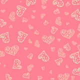 Seamless pattern of hearts Stock Photo