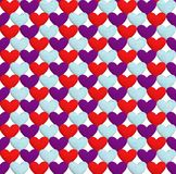Seamless pattern with hearts. Texture in the form of a fabric. Seamless pattern with hearts. Hearts of three different flowers on a white background. Texture in Stock Photography